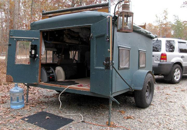 Homemade Diy Camper Trailer Made Recycled Stuff