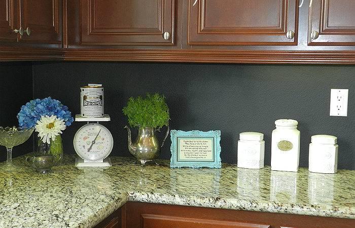 Hometalk Kitchen Chalkboard Backsplash