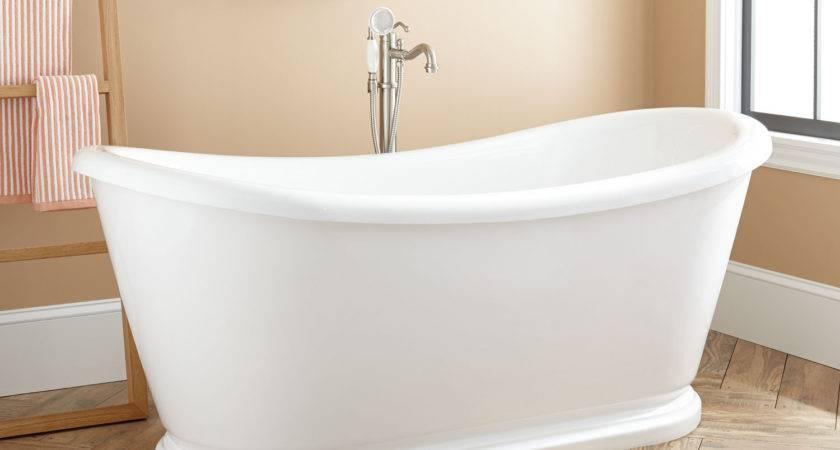 Howerton Acrylic Double Slipper Tub Freestanding