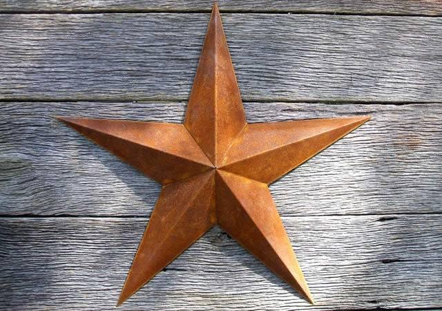 Inch Large Rusty Metal Star Heavy Duty Amish Barn Stars