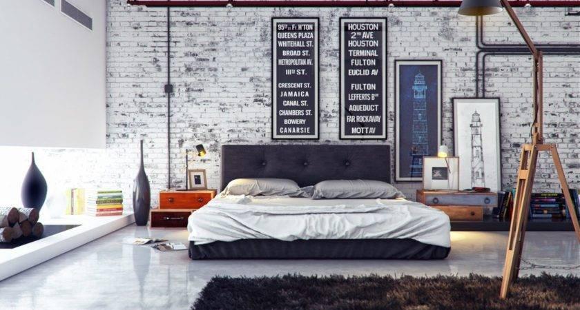 Industrial Bedroom Interior Design Ideas