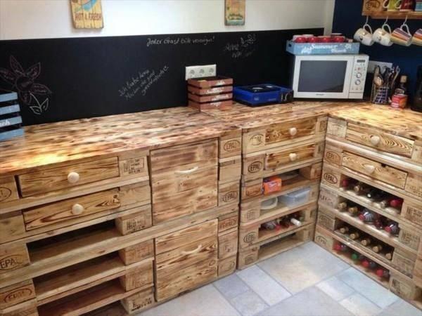 Inspiring Wooden Pallet Kitchen Ideas Pallets