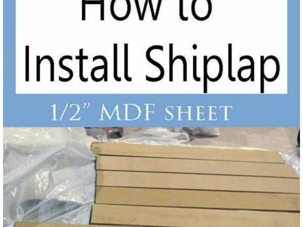 Install Shiplap Mdf Sheet Home Garden