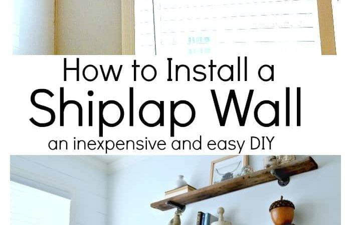 Install Shiplap Wall