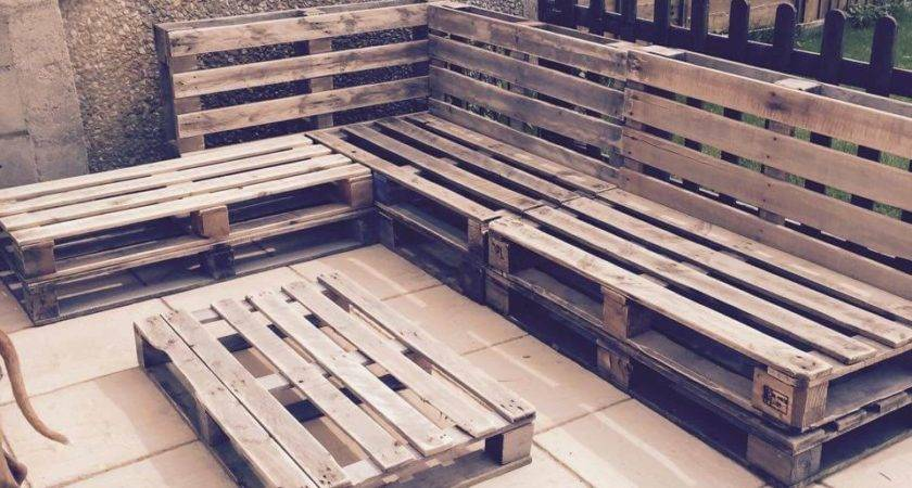 Interior Design Stacked Pallet Patio Sectional Couch