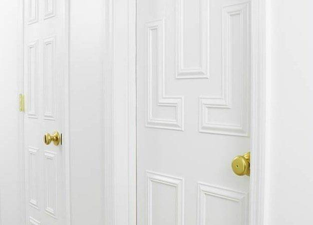 Interior Door Makeover Using Moulding Striped House