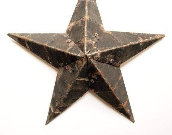 Items Similar Black Vintage Amish Metal Star Etsy