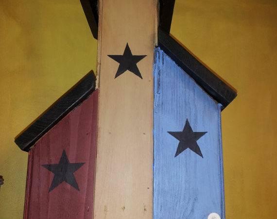 Items Similar Primitive Saltbox House Stars Etsy