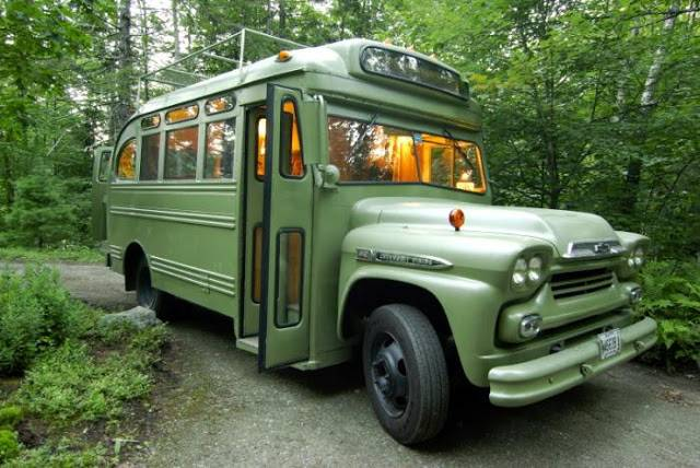 Just Car Guy Chev Bus Made Into Mobile Home