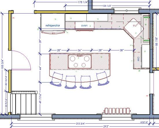 Kitchen Floorplans Modern Home Design Decor