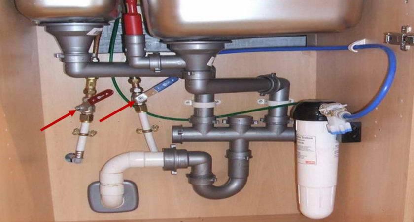 Kitchen Sink Water Valves