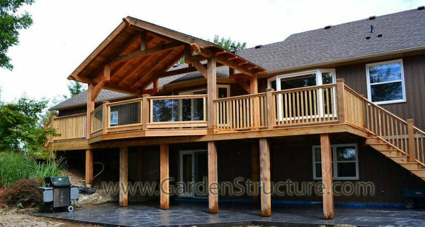 Large Roofed Decks Hamilton Massive Cedar Deck