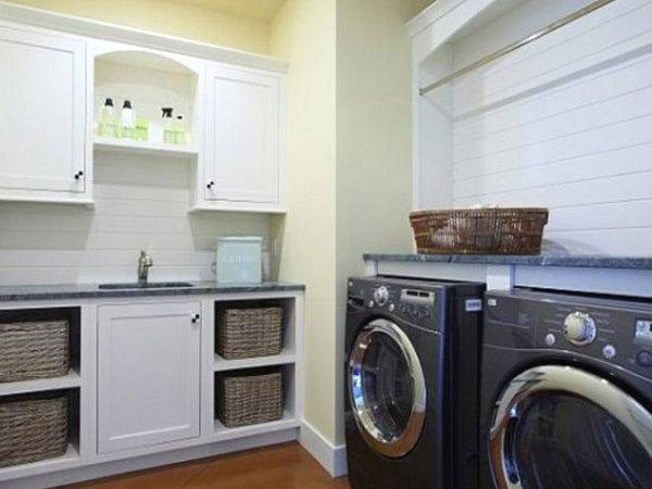 Laundry Room Storage Ideas Wooden Flooring Joy