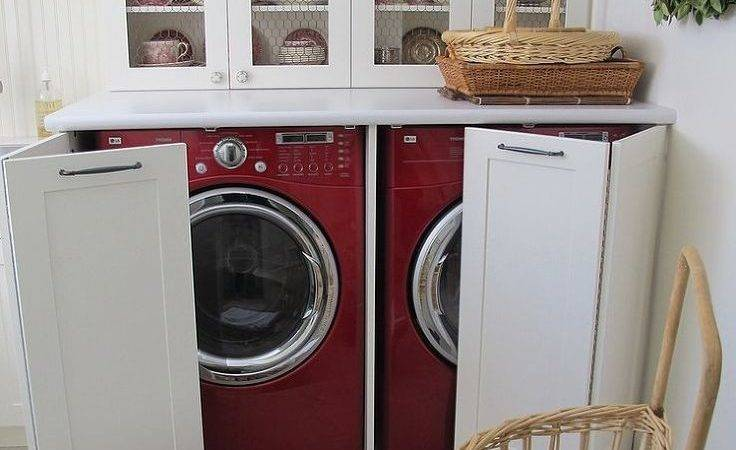 Laundry Spaces Cleverly Conceal Their Unsightly