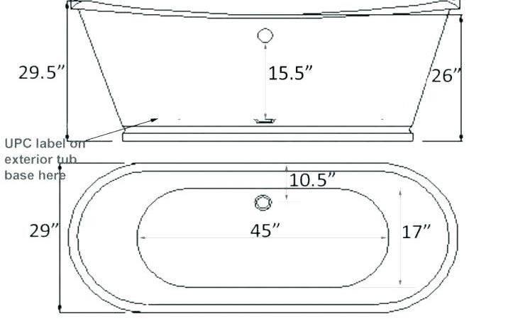 Length Width Standard Bathtub Ideas
