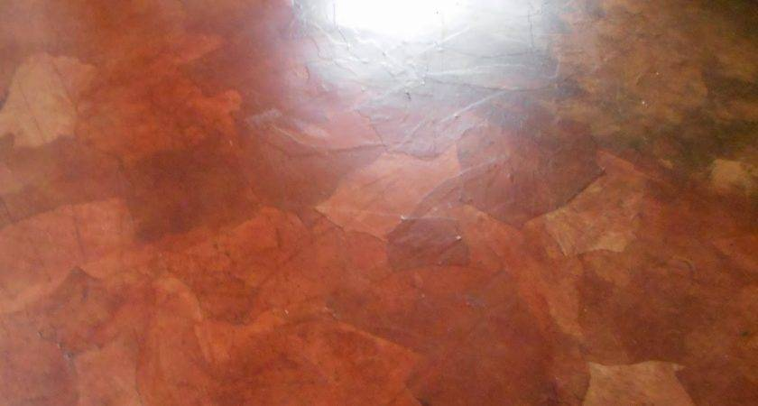 Living Designs Paper Bag Floor Over Asbestos Linoleum