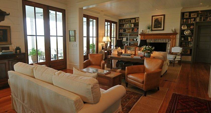 Living Room Addition Rustic Charleston Contemporary