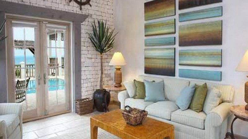 Living Room Beach Cottage Style Ideas