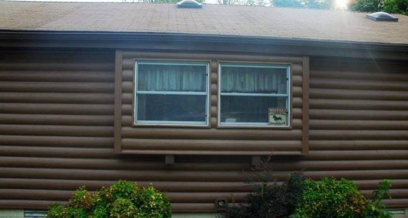 Log Look Vinyl Siding Cabin