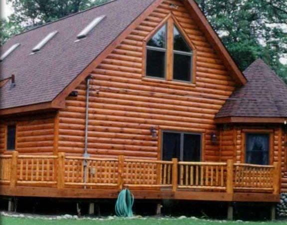 Log Siding Cabin Knotty Pine Paneling