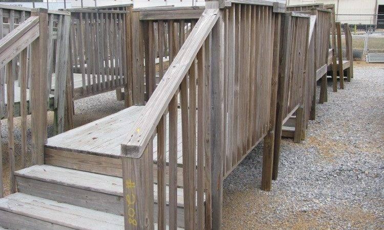 Lot Wood Trailer Mobile Home Decks Steps Bestofhouse