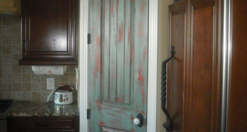 Lucky Star Faux Finishes Distressed Pantry Door