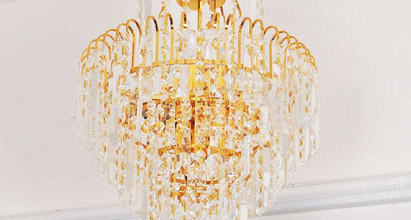 Luxury Royal Golden Crystal Chandelier Diy