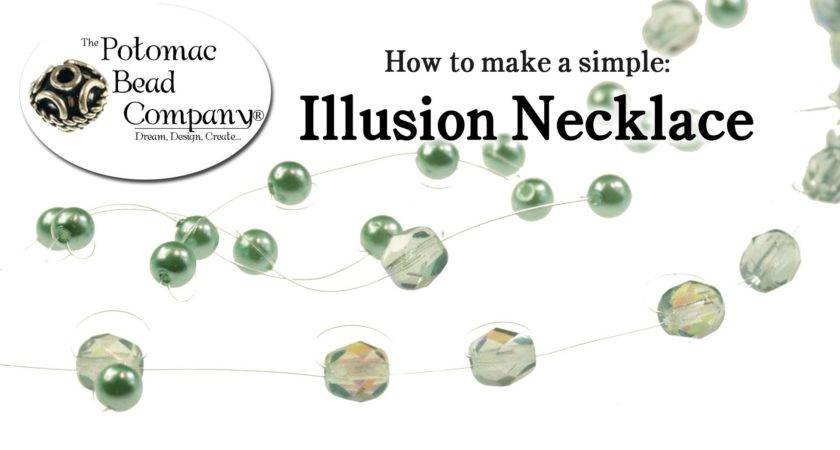 Make Fast Simple Illusion Necklace Youtube