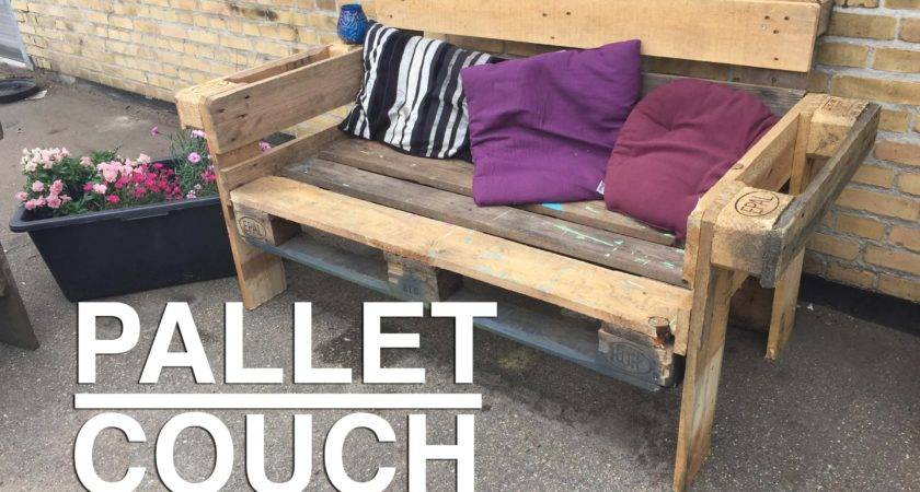 Make Nice Easy Upcycle Pallet Couch Youtube