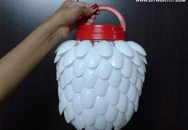 Make Plastic Spoon Lamp Diy Worthy