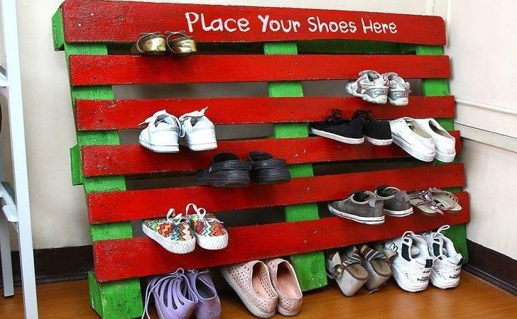 Make Shoe Rack Out Pallet Steps