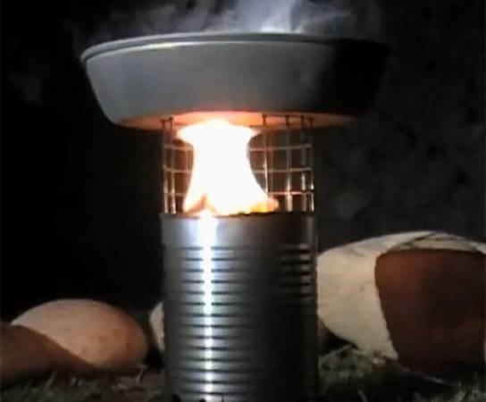 Make Tin Can Wood Stove