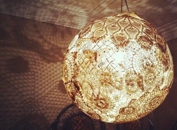 Make Vintage Doily Lamp Pliead
