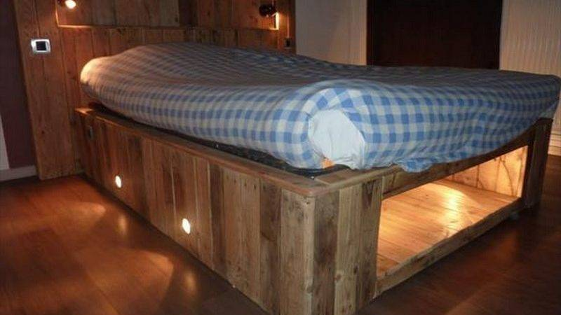 Making Illuminated Pallet Bed Easy