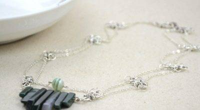Making Necklace Natural Stone Beads Make