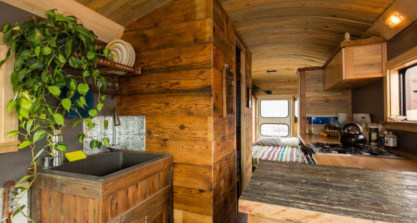 Man Transforms School Bus Into Home Wheels Homes
