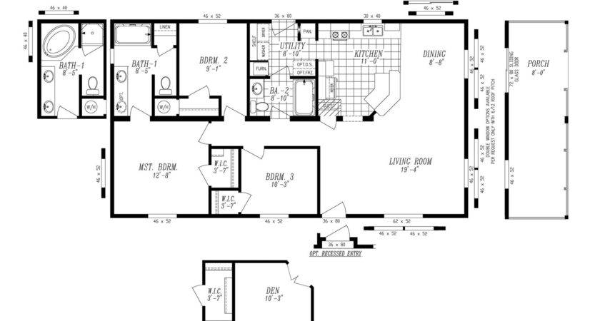 Manufactured Home Floor Plan Marlette Simplicity