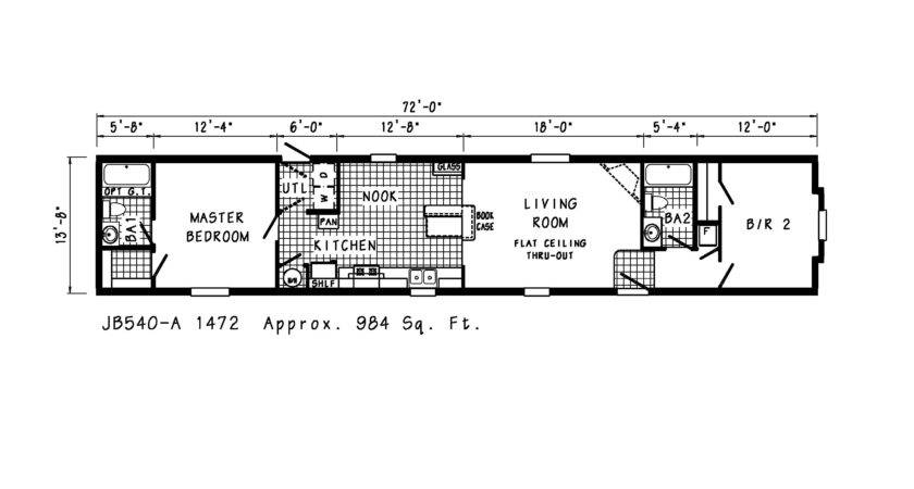 Manufactured Homes Mobile Single Wide Floor Plans