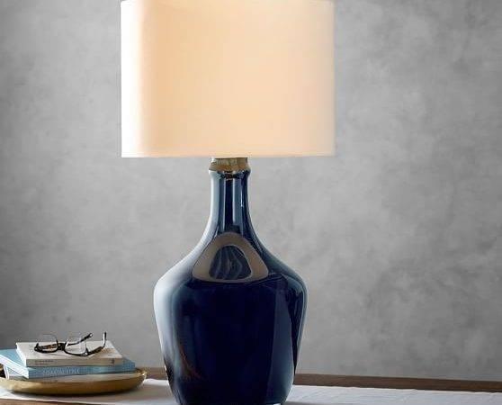 Mattox Glass Table Lamp Pottery Barn