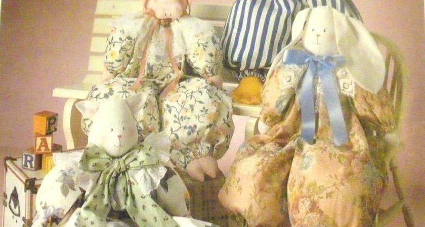 Mccalls Sewing Pattern Primitive Pig Cat Duck Bunny