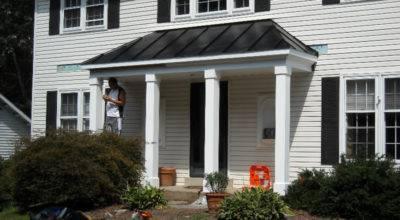 Metal Porch Roof Burke Consumer Construction Inc