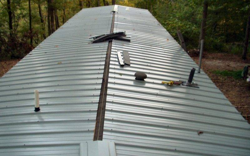 Metal Roof Over Shingles Mobile Home