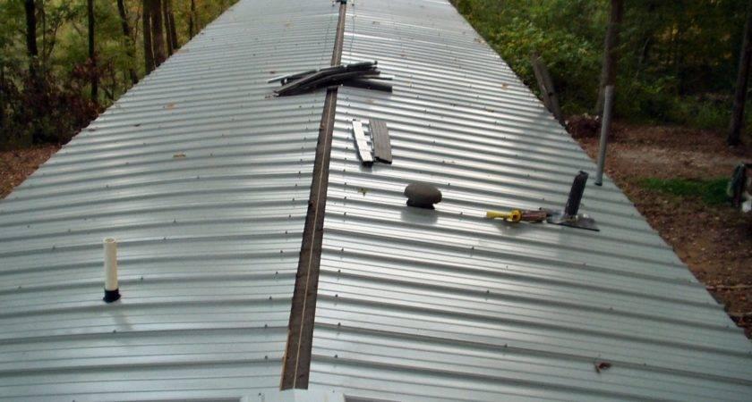 Metal Roof Put Mobile Home