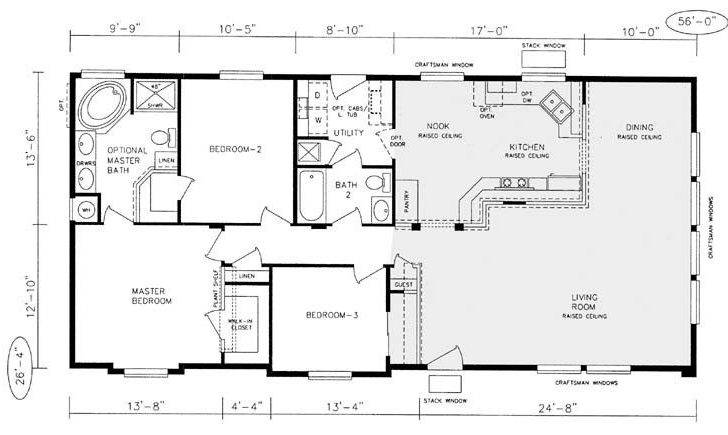 Mfg Homes Floor Plans New Champion Manufactured Home