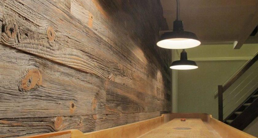 Milled Barnwood Paneling Interior Wall