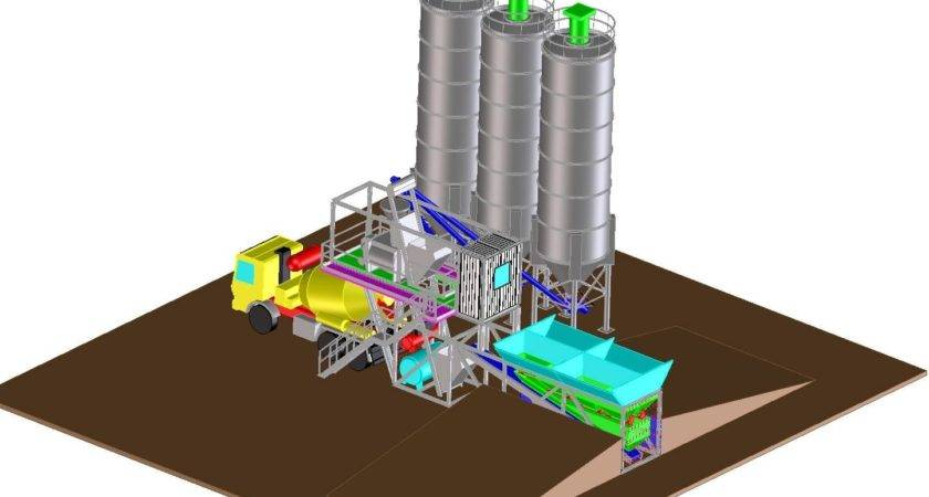 Mobile Concrete Mixing Batching Plant Rocchi Srl