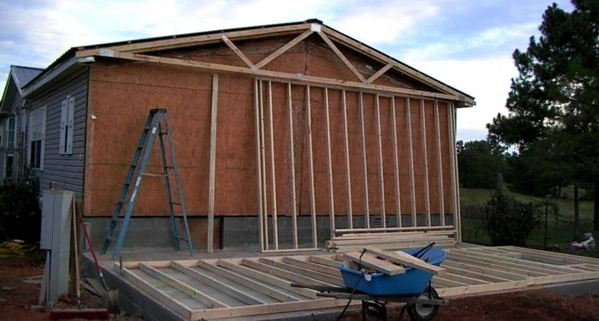 Mobile Home Addition Part Youtube