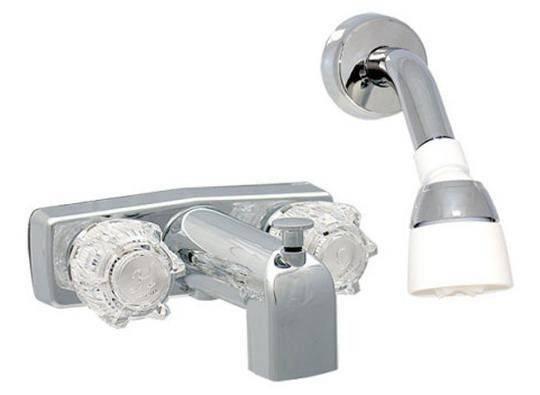 Mobile Home Handle Brass Tub Shower Faucet Head Arm