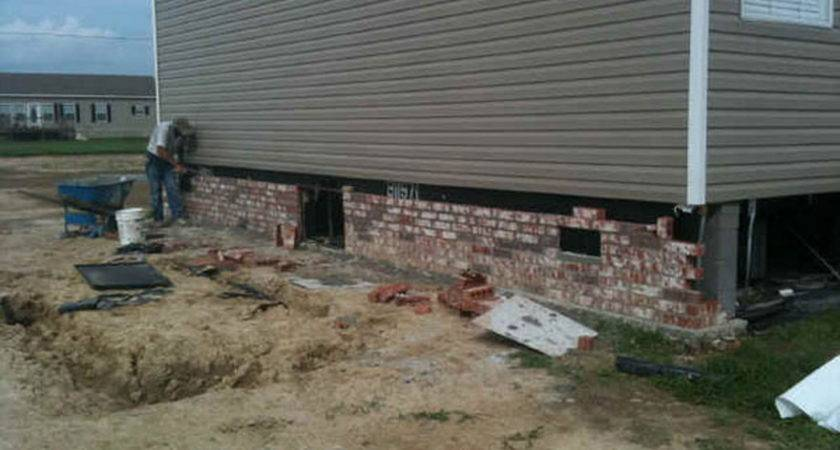 Mobile Home Skirting Homes Brick Manufactured Kelsey