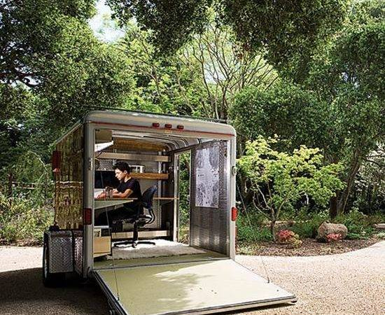 Mobile Home Small Office Wheels Redesign Ideas